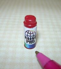 Miniature Spray Paint Can, RED: DOLLHOUSE (NOT REAL) 1/12 Scale Miniatures