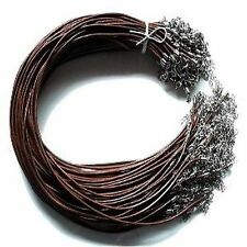 5 Pieces D. Brown of 1mm Leather Necklace Cords - C0135