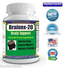 Memory Attention Focus Concentration calmness depression Brain Support Pills,