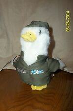 """Aflac Duck 6"""" Talking US Army Duck Dressed in Green Hat & Jacket"""