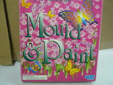New Mould n Paint plaster fridge Magnet and Badge Moulding Kit butterfly flowers