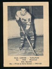 1951-52 Laval Dairy (QSHL) #79 PAUL LARIVEE (Valleyfield)