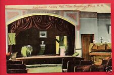 TILTON NH SAPPHONIAN SOCIETY HALL SEMINARY PIANO STAGE THEATRE SEATS POSTCARD
