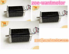 EU Free! 3pcs Wantai Nema23 Stepping Motor Dual Shaft 57BYGH115-003B 3A 425oz-in