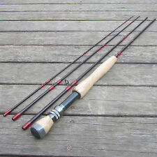 8FT 4 Pieces Carbon Fly Fishing Rod Pole # 5/6 Length 2.44M