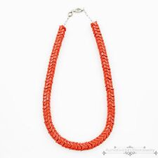 Antique Vintage Art Deco Sterling Silver Chinese Mediterranean Coral Necklace!