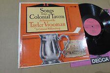 TAYLER VROOMAN songs from a colonial tavern williamsburg minstrel folk PROMO LP