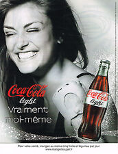 PUBLICITE ADVERTISING 104  2009  COCA- COLA LIGHT soda