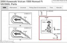 2000 Kawasaki 1500 Vulcan Nomad FUEL FILTER BRACKET & HOSE