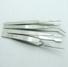 4PCS Non-magnetic Stainless Steel Tweezers for ICs SMD SMT Jewelry Plier Tools