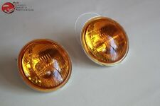 Amber Lens Fog Lamp Light Replacement Bulbs Vintage Style 12 Volt Hot Rod Truck