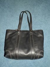 Authentic COACH XL Black Leather Hamptons Travel Multi Tote 6491 Gently Used