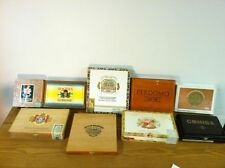 Lot of 8 Empty Wooden CIGAR BOXES Collectable Cigar Box Crafts Purses Guitars