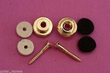 Par Enganches Para Correa De  Bajo Guitarra Dorados Gold Strap Lock Soportes