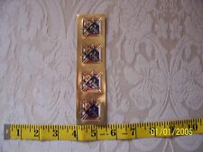 KNIGHTS OF COLUMBUS - 3rd Degree Gold Foil STICKER 1 1/4 inch Count 4