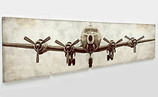 "Huge pottery barn 4 pcs  Airplane print Canvas art  20*20"" unframed /wall decor"