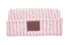 *NEW* LOVE YOUR MELON Rose Speckled Leather Patched Cuffed Beanie HAT *SoldOut*