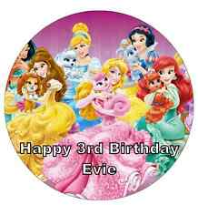 """Disney Princess Palace Pets Personalised Cake Topper 7.5"""" Edible Wafer Paper"""