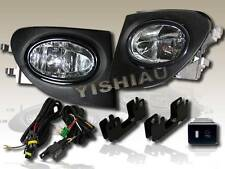 2002-2005 HONDO CIVIC SI EP3 HB JDM/OEM CLEAR BUMPER FOG LIGHT LAMP+WIRE+SWITCH