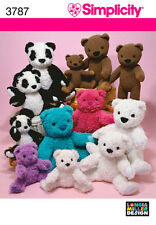 S 3787 Patron couture Ours Peluches - 3 Tailles