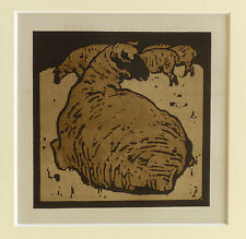 WILLIAM NICHOLSON VINTAGE 1900 LITHOGRAPH, THE SIMPLE SHEEP
