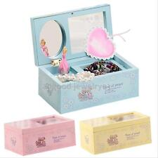 Music Box Ballet Dancer Dancing Ballerina Musical Toy Mirror Jewelry ring novely