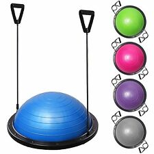 Exercise Fitness Yoga Balance Trainer Ball W/ Resistance Bands & Pump Blue