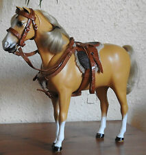 Handmade 1:6 leather saddle & bridle set Action man Sindy Marx Johnny West horse