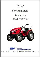 TYM T233 - T273 HST Tractor Repair Service Workshop Manual CD - T233HST T273HST