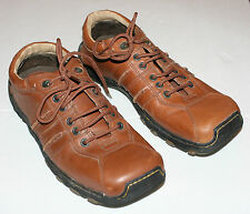 Pre-worn Doc Martens 8A99 Brown Leather Lace-Up Athleisure UK sz 8, US M9, W10