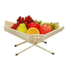 Chef Collection Table Bowl Decor Bamboo Fruit Basket Foldable Produce Kitchen