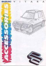 SUZUKI VITARA ACCESSORI 1991-1992 Originale Regno Unito delle vendite sul mercato opuscolo