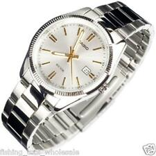MTP-1302D-7A2 White Casio Watch Men's Date 50m Stainless Steel Analog Brand-New