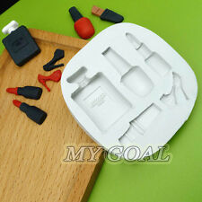 Makeup Silicone Fondant Mould Lipstick Shoe Cake Decor Icing Sugarcraft Mold Mat