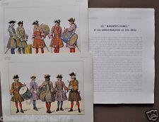 Cdt Bucquoy Le Passepoil 30è année n°unique 1950 10 pl. Tambours Infanterie 1720