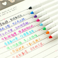 New 8PCS Cute Korean Stationery Watercolor Pen Gel Pens Set Color Kandelia FI