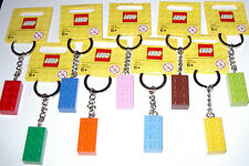 9 NEW LEGO BRICK BLOCK 2X4 KEYCHAIN KEYRING PARTY SUPPLY FAVOR GRABAG MIX COLORS