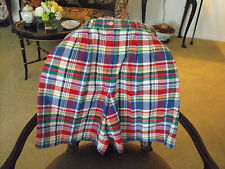 Classic, Traditional TALBOTS Red/Blue/Green/Yellow Madras Bermuda Shorts 12R