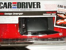 ERTL/AUTO WORLD 1968 DODGE CHARGER RED/BLACK CAR & DRIVER COVER CAR