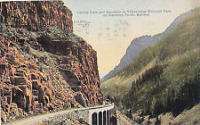 c1912 Northern Pacific Railroad Yellowstone Park Gardiner Gate Postcard
