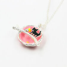 New Gold Silver Chains Universe Cute Cat Necklace Bijoux Women Girl Jewelry