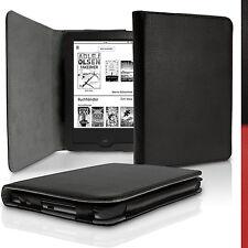 Schwarz PU Leder Tasche für Tolino Shine 2 HD Schutz Hülle Case Cover Sleep Wake
