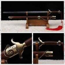 "Stainless Steel Hand Forge Chinese Sword ""Tai chi JIAN ""(劍) Good Elasticity#0226"