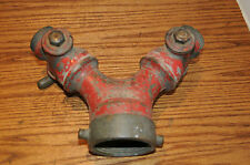HUGE VINTAGE FIRE DEPARTMENT 3 WAY FIRE HOSE CONNECTOR LARK FIRE RESCUE HOSES..