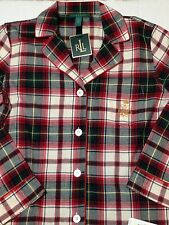 RALPH LAUREN Flannel Pajama Set Tartan Plaid  Plus 3X Lodge NEW