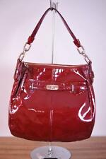COACH $328 Signature Chelsea Patent Leather Ashlyn Hobo 17861 Liquid Gloss Wine