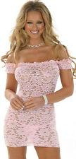 Christmas Gift Ladies Pink Womens Baby Doll Lace Lingerie Underwear Night Wear