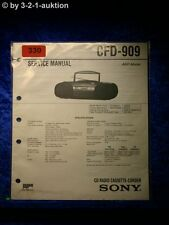 Sony Service Manual CFD 909 Cassette Corder (#0330)