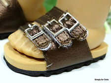 """BRONZE Metallic Euro DOLL SANDALS SHOES fits 18"""" AMERICAN GIRL Doll Clothes"""