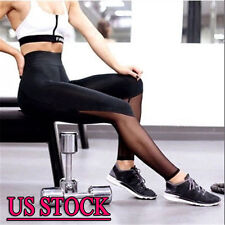 NEW Womens Yoga Running Fitness Leggings Pants Sports Gym Exercise Trousers S517